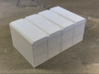 OO Gauge (1/76) Cycle Lockers Set of 4 joined 3d printed Back view after one coat of primer