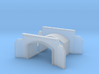 Tunnel portal two track - T scale 1:450 3d printed