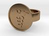 Caduceus Ring 3d printed
