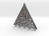 Sterling Silver Triangle & Lapis Earrings 3d printed