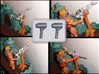 Handle extension for MOTUC Castle Grayskull Turret 3d printed The center one has been painted