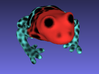 Red Poison Arrow Frog 3d printed