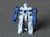 """MicroSlinger """"Mayhem"""" 3d printed Mayhem robot mode, front view. Painted with acrylics."""