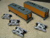 UP Water Tender (Ex Turbine) Type 1&2 - No Trucks 3d printed Model By Mark Peterson