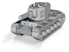 KV-2 Tank model for Axis & Allies 3d printed