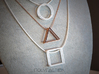 Wire ::: Triangle Pendant ::: v.01 3d printed
