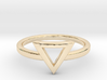 Small Offset Triangle Midi Ring 3d printed