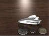 Lifting Body Space Shuttle 1/144 3d printed White Strong and Flexible. This is a rendering. Coins not included :)