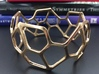 Catalan Bracelet - Pentagonal Hexacontahedron 3d printed Photo of finished product in Polished Bronze