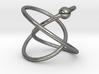 Hoop Knot Earring - Mirror Image 3d printed