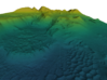 Mars Map: Light Outcrops in Viridis 3d printed