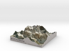Mount Assiniboine Map - Natural 3d printed