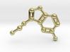 Serotonin Molecule Necklace 3d printed