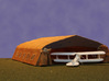 Bessonneau WWI Hangar Frame 3d printed Shown with fabric covering