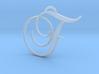 Elegant Script Monogram F Pendant Charm 3d printed