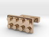 SCULP® Lego Sculpture Classic Cufflinks Rectangle 3d printed