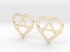 The Wild Hearts (precious metal earrings) 3d printed