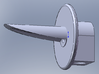 LNER 1/76 3-aspect long hood Searchlight head for  3d printed Image of the Solidworks model