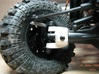 Axial SCX C-hub left side V2 3d printed c-hub mounted with high-clearance knuckle and xr10-universals
