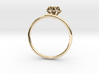 10k Yellow Gold Diamond-Accent Wedding Band 3d printed