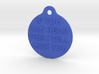Dog neckband pendant Ø 30mm / 1.2 inches 3d printed