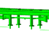 1/64th set of two 20' highway guardrails  3d printed