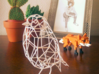 Bird wire frame model (with eyes) 3d printed