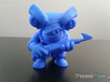 Scuba Shark Toy Collectible 3d printed Photo of 3D printed Scuba Shark in Blue -View 2