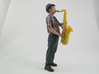 Scanned Saxophone player-818 3d printed