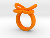 AMOUR petite in orange polished plastice 3d printed