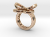 AMOUR petite in 14k rose gold plated 3d printed