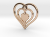 The Hearty Heart (precious metal pendant) 3d printed