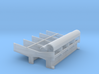 YT1300 MPC CUT HALL PILLARS SEPARATE TUBES 3d printed