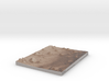 Mars Map: Small Buttes and Dunes in Sepia 3d printed