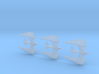 Narn Thentus Frigate 3 pack Full Thrust Scale 3d printed