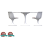 Miniature Tulip Table & 4 Chairs - Eero Saarinen 3d printed Miniature Tulip Table & 4 Chairs - Eero Saarinen
