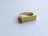 Zebra Pattern Ring 3d printed Polished Brass