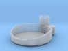 1/96 USN 40mm quad Gun Tub Fore Superstructure 3d printed