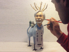 The Hiyatoro Miyazaki Spirit 3d printed Me with my wood sculpture. Your 3D print will be made  from a modified scan of this.