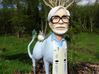 The Hiyatoro Miyazaki Spirit 3d printed My original wood sculpture. Your 3D print will be made  from a modified scan of this.