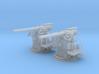 "1/72 RN 4""/45 (10.2 cm) QF MKV MKIII x2 3d printed 1/72 RN 4""/45 (10.2 cm) QF MKV MKIII x2"