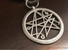 Sigil of the Gates keychain 4.5cm 3d printed Polished Nickel Steel Example