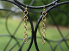 Infinity Chain Earrings 3d printed Infinity Chain Earrings in Raw Brass
