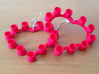 Pop Cap Heart Earrings (Large) 3d printed