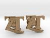 Monogram Cufflinks ZT 3d printed