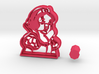 Disney's Snow White Cookie Cutter + handle 3d printed