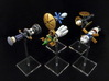 Spaceships (5 pcs) - High Frontier 3d printed Hand-painted White Strong Flexible