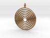 "Pendant ""Spiralinsky"" 28mm Diameter + Loop 3d printed"
