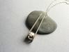 Geometric Pendant: minimalist geometry 3d printed Silver minimalist jewelry