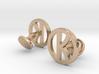 Kingsman Cufflinks 3d printed kingsman cufflinks 14K rose gold plated